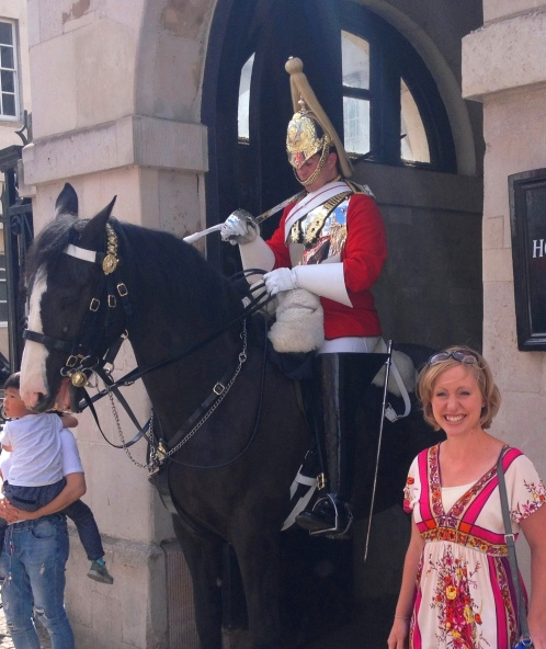 A palace guard in London